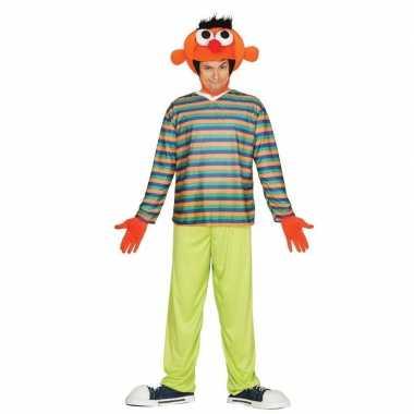 Oranje pop ernie verkleed kostuum voor heren