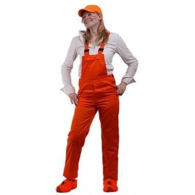 Oranje tuinbroek verstelbaar