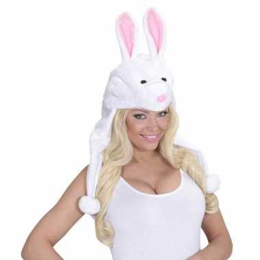 Originele konijnen muts voor volwassenen