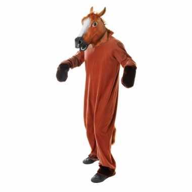 Paarden jumpsuit volwassenen
