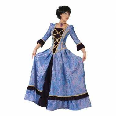 Paars/zwarte jonkvrouw verkleed jurk voor dames