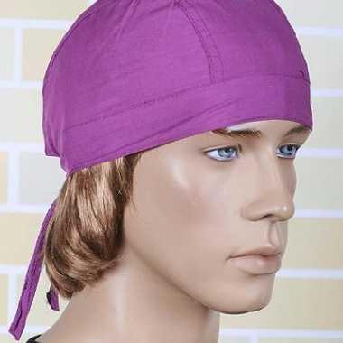 Paarse bandana voor dames en heren uni 1