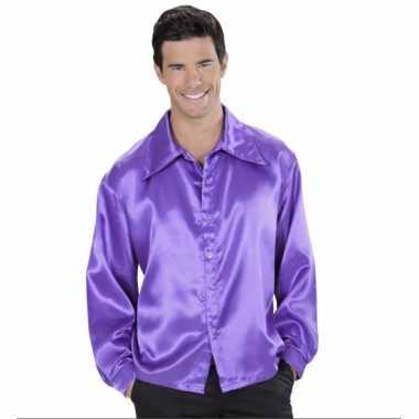 Paarse satijnen blouse