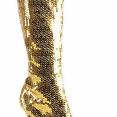 Pailletten laarzen goud dames