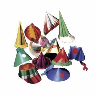 Papieren feesthoedjes 6 stuks voor kids