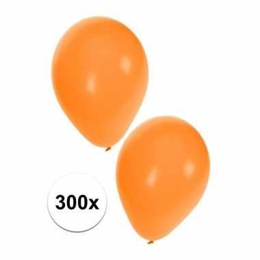 Party ballonnen oranje, 300 stuks