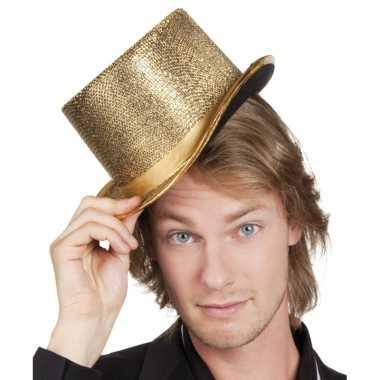 Party hoed hoog met gouden glinsters