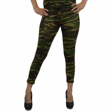 Party legging camouflage print