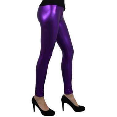 Party legging metallic paars