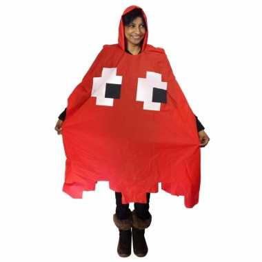 Party regenponcho pacman spook rood