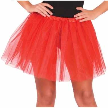 Petticoat/tutu verkleed rokje rood 40 cm voor dames