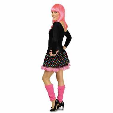 Petticoat zwart en roze met stippen