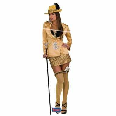 Pimp outfit goud voor dames