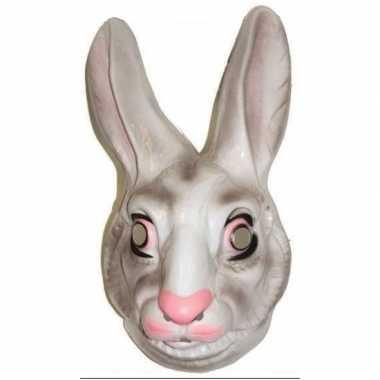 Plastic konijnen masker voor volwassenen