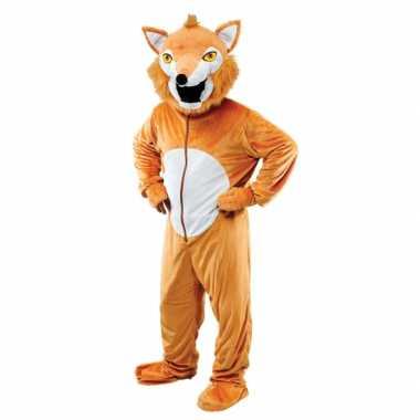 Pluche vos kostuum voor volwassenen