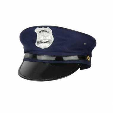 Politie pet met klep volwassenen