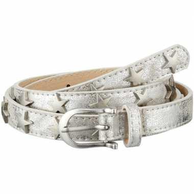 Riem zilver met sterren verkleedaccessoire voor dames