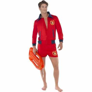 Rode baywatch outfit