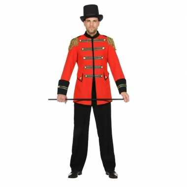 Rode circus directeur jas voor heren