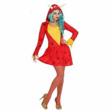 Rode draak kostuum voor dames