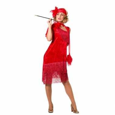 Rode jaren 20 jurk voor dames