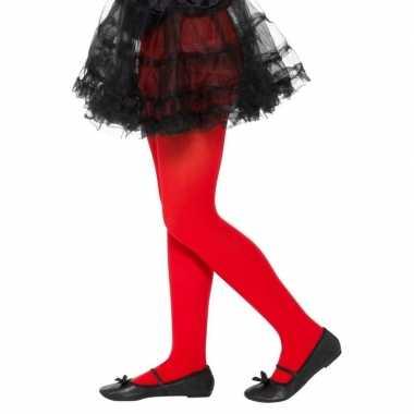 Rode legging voor kinderen 6 12 jaar