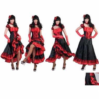 Rode moulin rouge jurk