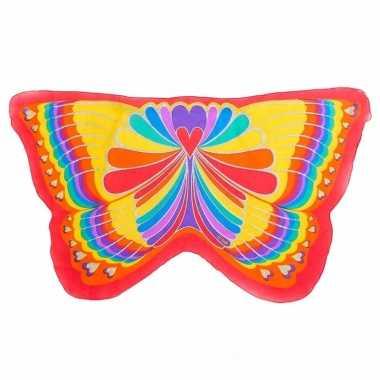 Rode regenboog vlinder vleugels voor kinderen