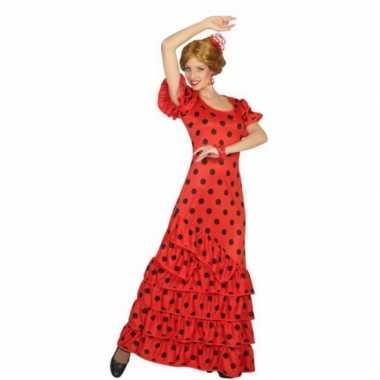 Rode spaanse verkleedkleding jurk