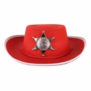 Rode vilt cowboyhoed voor kinderen