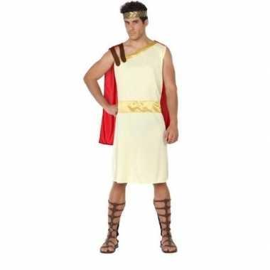 Romeinse/griekse heer agis verkleed kostuum voor heren