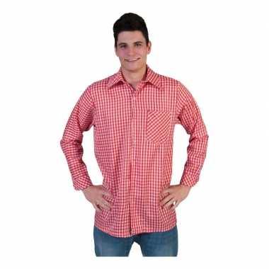 Rood met wit overhemd met ruitjes