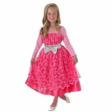 Roze barbie deluxe jurk voor meisjes
