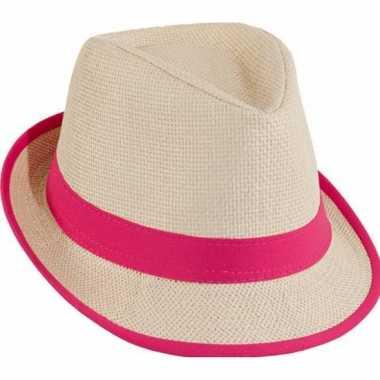 Roze dames strandhoedjes