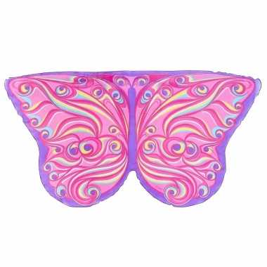 Roze fantasie vlinder vleugels voor kinderen