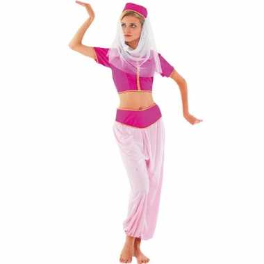 Roze harem prinses outfit