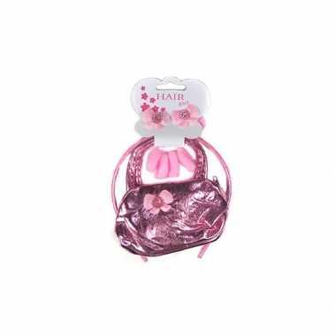Roze tasje met roze diadeem voor meisjes