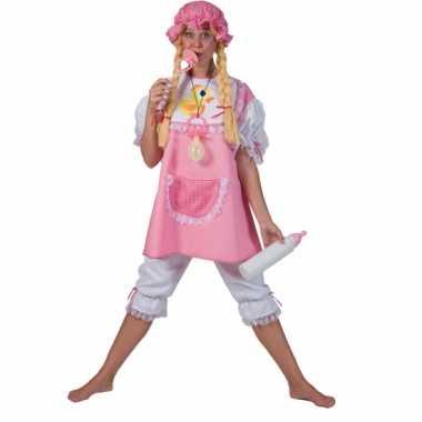 Roze verkleed babypak voor volwassenen
