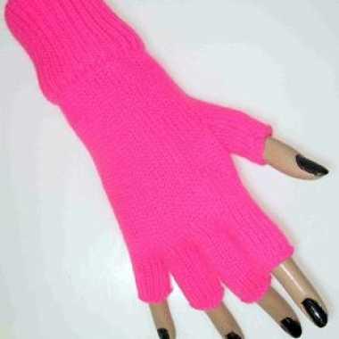 Roze vingerloze handschoenen