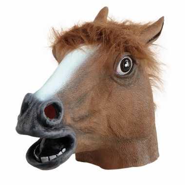 Rubber masker bruine paarden kop