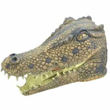 Rubber masker krokodillen kop