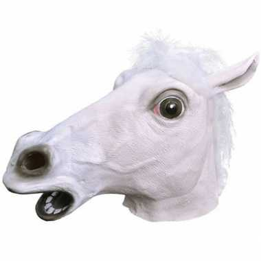 Rubber masker witte paarden kop