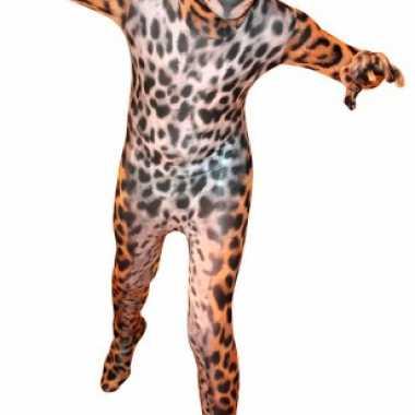 Second skin pak met luipaard print