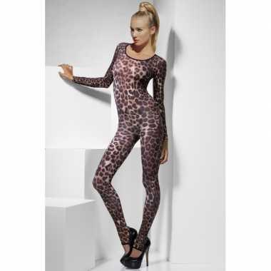 Sexy bodysuit luipaard print