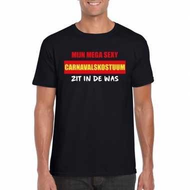 Sexy carnavalskostuum zit in de was heren t shirt zwart