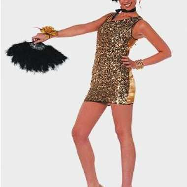 Sexy jurken goud pailletten