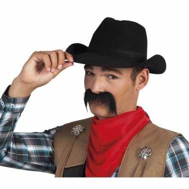 Sheriff deputy snor zwart