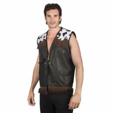 Sherrif vest zwart voor mannen