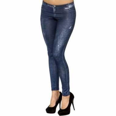 Skinny jeans print legging