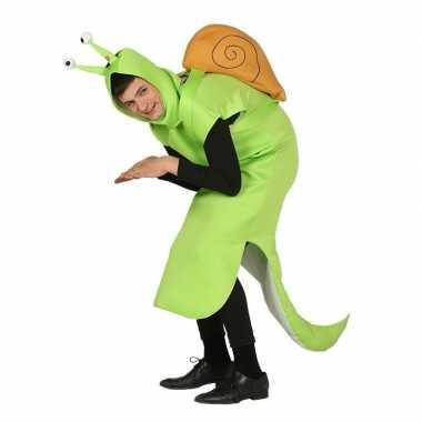 Slak kostuum groen voor volwassenen